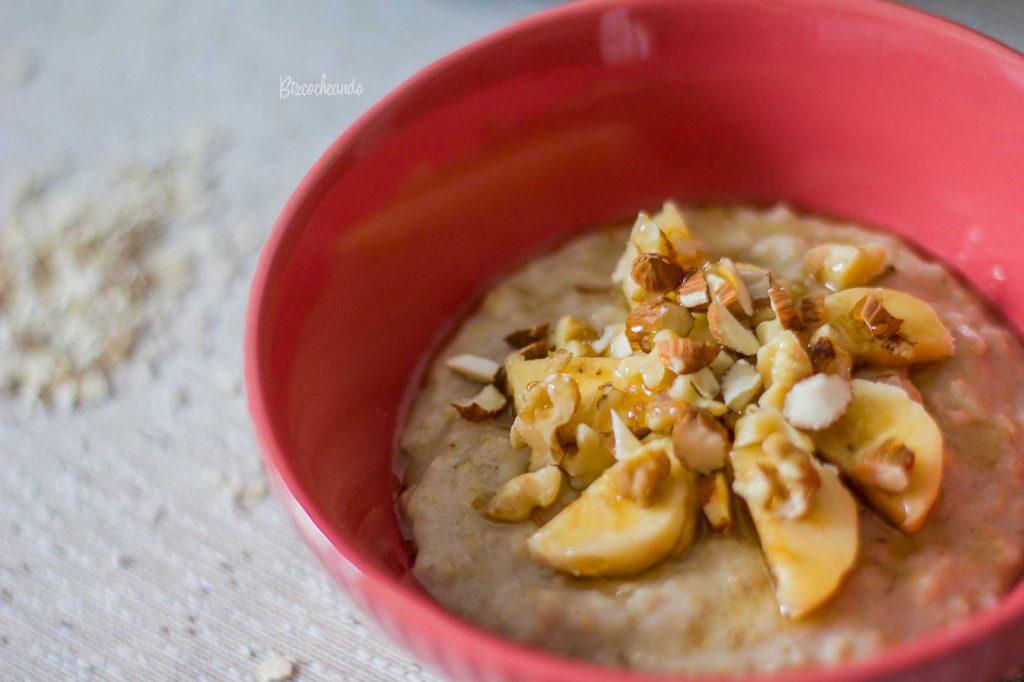 Porridge Vegano de Almendras y Platano