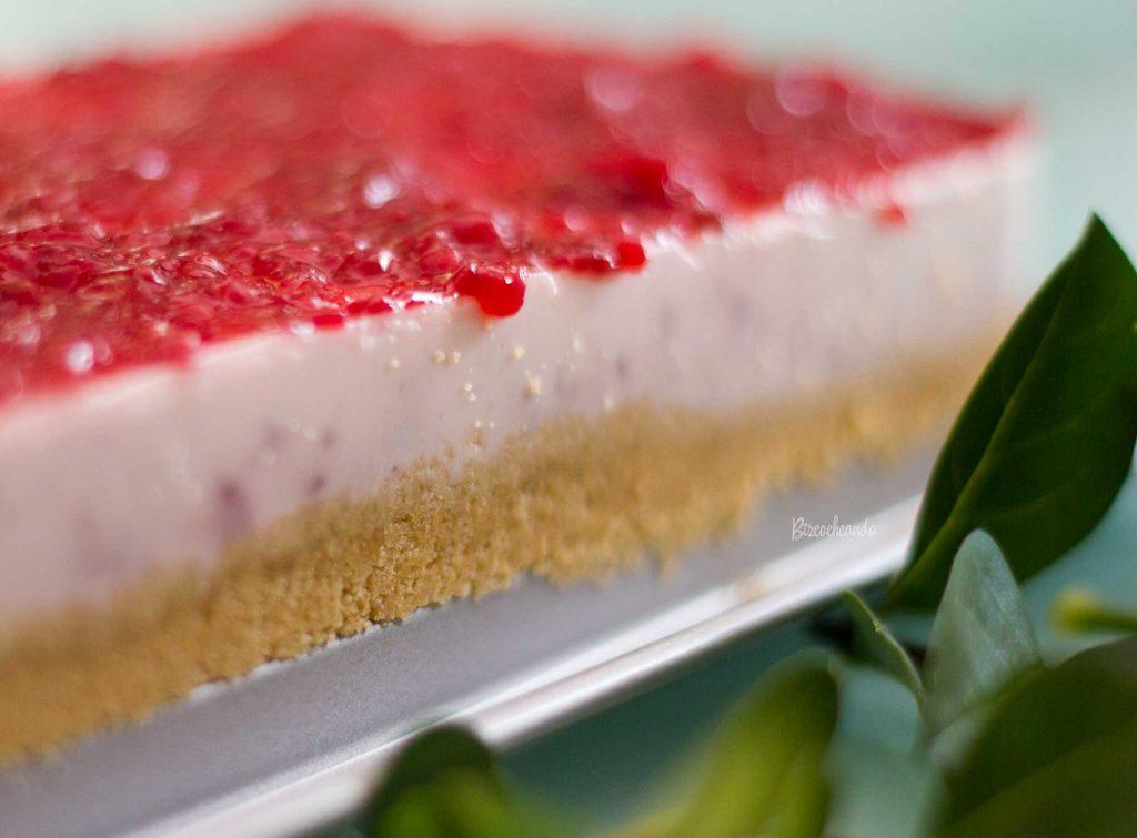Tarta de Mermelada de Frambuesa y Yogur Sin Horno
