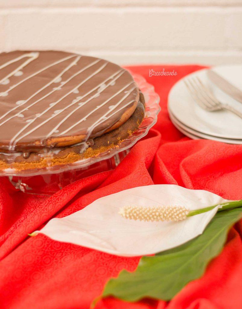 Tarta de Queso de Nutella y Chocolate