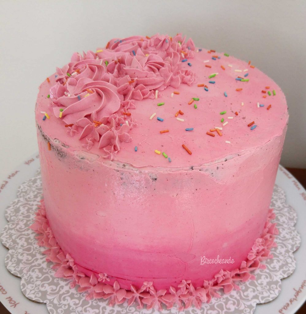 Layer Cake de Chocolate y Fresa