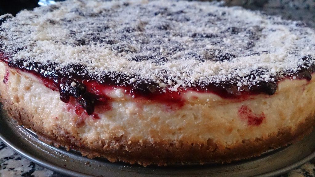 tarta-de-queso-con-arandanos